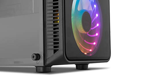 Nox Hummer TGM -NXHUMMERTGM- Caja ARGB ATX - Micro ATX-ITX, 4 ventiladores ARGB 120mm preinstalados, cristal templado, espacio para hasta 6 ventiladores, USB 3.0, color negro