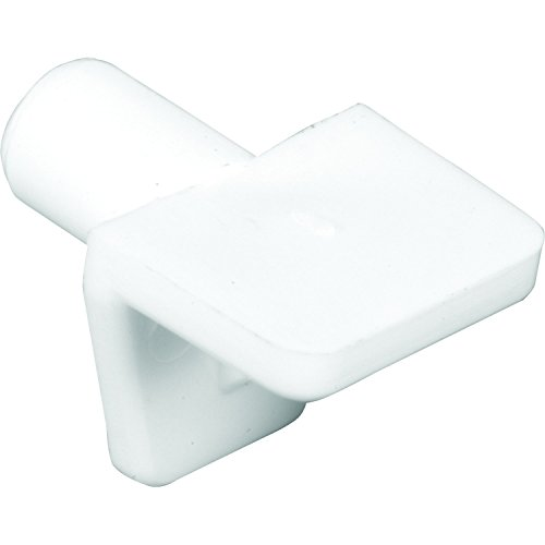 Prime-Line Products U 10142 Shelf Support Pegs, 5Mm Diameter (Approximately 3/16 in.), White, Clear (Pack of 8),