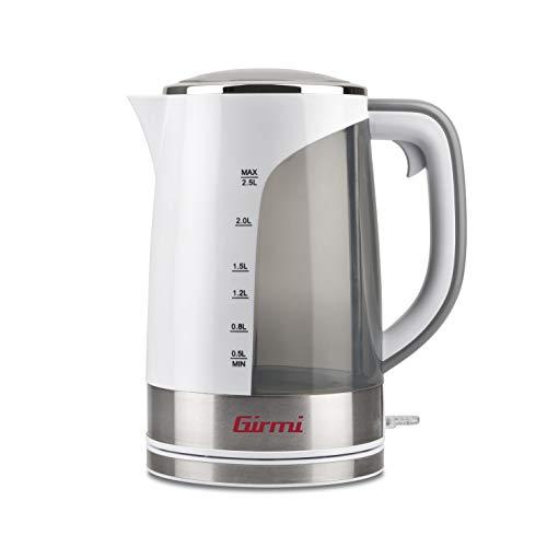 Girmi BL90 Bouilloire 2025 W, 2,5 litres, plastique, blanc