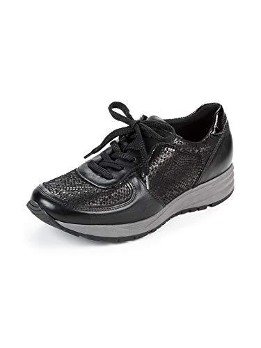Waldläufer Damen Hallux-Sneaker Extraweit Schwarz Gr. 39