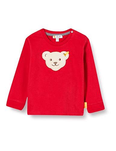 Steiff Baby-Jungen Sweatshirt, Rot (Tango Red 4008), 86 (Herstellergröße: 086)
