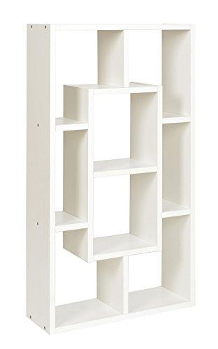 ts-ideen Libreria Scaffale 48x85 cm color Bianco con 8 vani