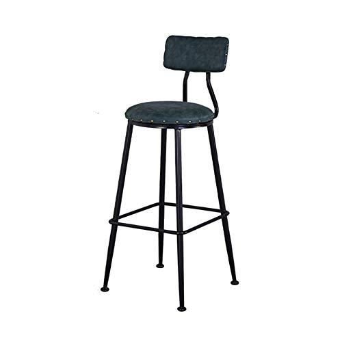 À usages multiples haut vin Tabouret, assise ronde en bois massif courbé Tabouret Dossier Balcon Surface restaurant Tabouret de bar Étude (Size : 75cm)
