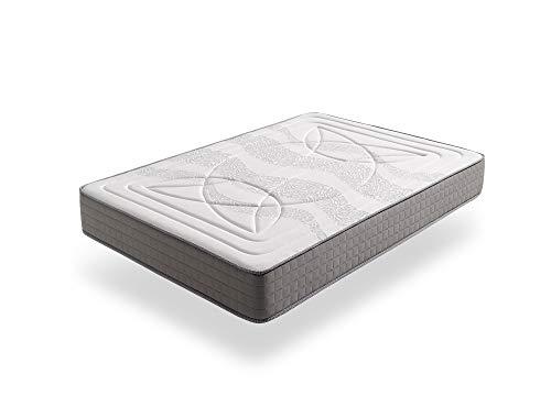 ECCOX - Viskoelastische Matratze Luxury Olympus Doppelseitig Federkernmatratze - Höhe 23 cm - Hochdichter HR-Kern - Sommer 4D Air Comfort-Stoff - Winter Atmungsaktives Stretch-Material (90x200 cm)