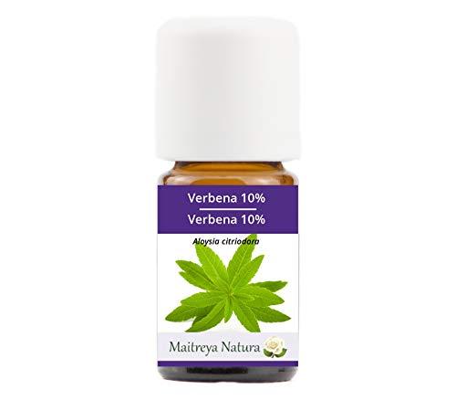 Maitreya Natura Aceite Esencial de VERBENA 10% en aceite de JOJOBA, 100% puro y natural, 5 ml - aromaterapia, difusor, masaje, cosmético - calidad controlada y certificada, libre de crueldad, vegano