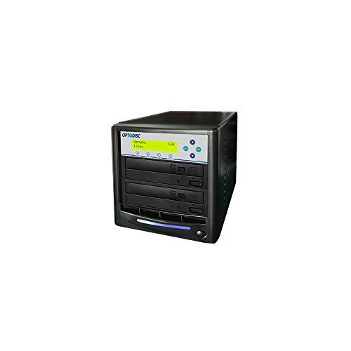 primera technology duplicators Optodisc 1 to 1 24X Burner M-Disc Support CD DVD Duplicator - Standalone Copier Duplication Tower (OPTO-S1T-DVD-BK)