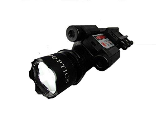 Ade Advanced Optics 600 lm Flashlight and Blue Laser Combo Sight