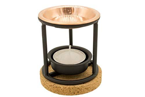 Jeomra Weihrauchbrenner aus stabilem Stahl mit Kupferpfanne und Korkplatte - ideal zum Räuchern von Weihrauch