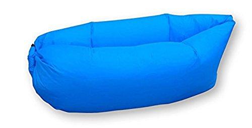 Dakota Tumbona Hinchable, sofá de Dormir,Camas de Aire portátil para Viajes, Camping, Playa, Parque. Color: Azul Claro