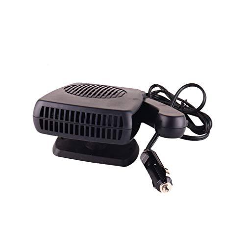 Wakauto Calentador de coche Calentador universal de desempañador de parabrisas de coche 24v Ventilador de calefacción portátil Desempañador de nieve Limpiador de conducción segura antiniebla (