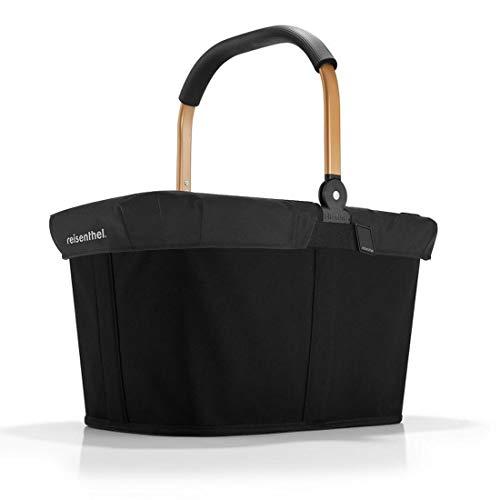reisenthel carrybag Frame Gold Henkel Einkaufskorb + Cover Abdeckung schwarz