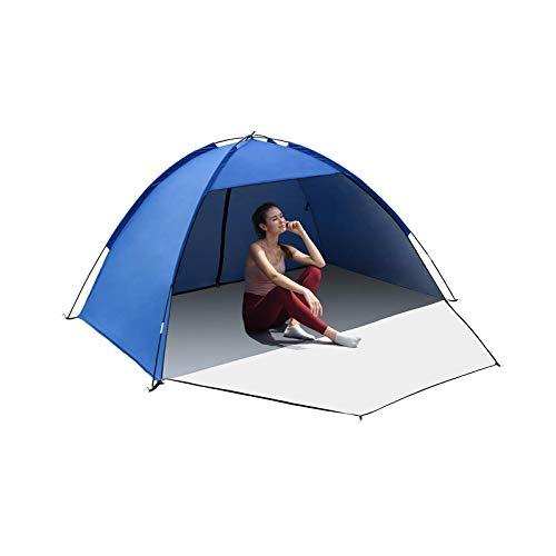 Tienda de playa portátil para evitar la lluvia pequeña tienda de campamento anti-UV con cremallera Porche para la familia de los niños bebé al aire libre picnic