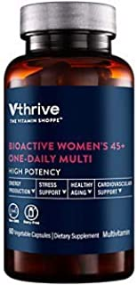 Bioactive Multivitamin for Women 45+ Once Daily Supports Stress, Healthy Aging (60 Vegetarian Capsules)