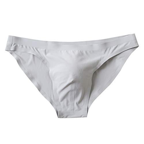 Fenverk Herren Bequeme modal Slips String Sexy Low Rise Tanga Unterwäsche,Herren Bikini Slips Unterwäsche Mesh Mini String Dessous Bademode Shorts Hosen (Grau,XXXL)