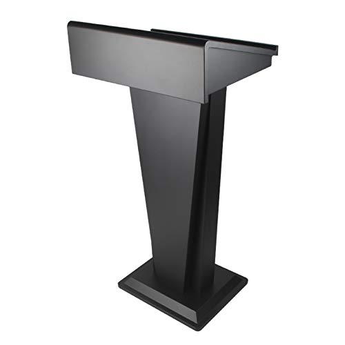 TnSok Stehendes Podium Stehender Lektoren Edelstahl hohe Kanzel Podium für Bodenklassenzimmer Präsentationsstand leichte Montage (Color : Black, Size : 46X58X109.5cm)