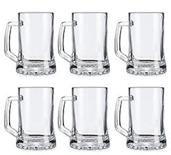 Pack de 6 Jarras para Cerveza - Vasos Jarra de Cristal Resistente...