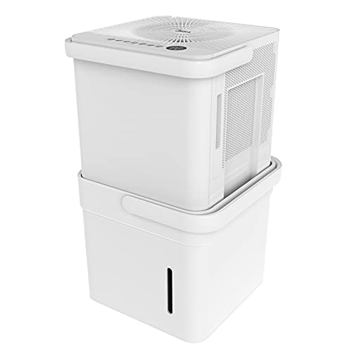 Midea Cube 35 Pint Dehumidifier with Smart Wi-Fi, For up to 3,500 Sq. Ft.-Compact Size for Home, Basements, Medium-sized Rooms, and Bathrooms, Works with Alexa (White), ENERGY STAR Most Efficient 2021