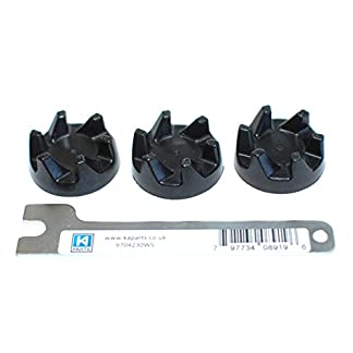 Drei-Ersatzkupplungen-aus-schwarzem-Gummi-AKA-Kupplung-oder-Kupplung-fuer-einen-Kitchenaid-KSB5-KSB52-Mixer-mit-einem-KAParts-Schraubenschluesselwerkzeug-zum-Entfernen-Ihres-alten-Kupplers