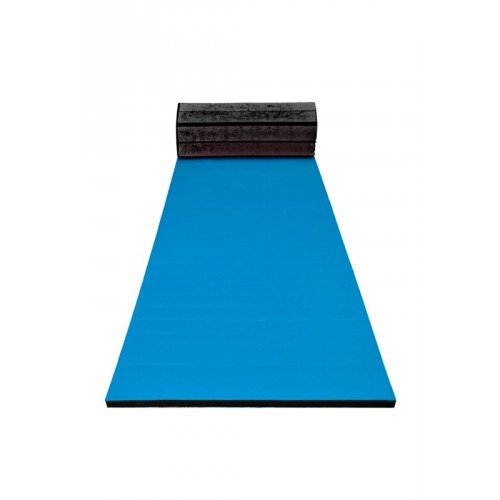 GYMNO–Esterilla enrollable plana de3,5 cm de grosor, turquesa