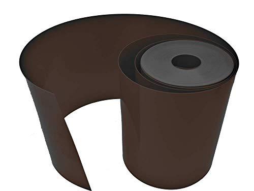 Sorton Flexible Rasenkante Rasenkante Rasenkante Rasen Garten Kunststoff PVC verschiedene Längen und Farben Gras (25cm/10m, Braun)