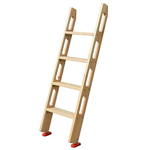HWLL Escalera Cama Litera Escalera para Cama Doble Tipo Loft con Pasamanos Incorporado, Escalera de Madera Antideslizante para Literas para Adultos/Adolescentes/RV/Dormitorio, Escalera de Gancho Port