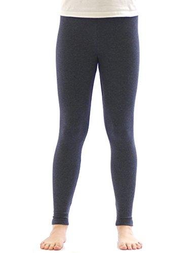 YESET Kinder Mädchen Thermo Leggings Fleece Hose lang Leggins aus Baumwolle Jeans 158