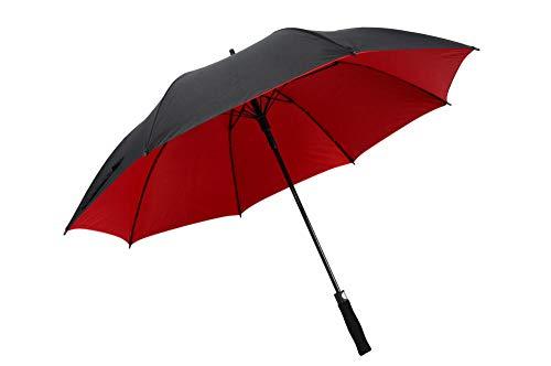 WENSISTAR Golf Wind Resistant Paraplu's voor mannen, Golf business paraplu, full fiber rechte handvat paraplu, super windbestendig@rood, Windproof UV bescherming Compact Paraplu