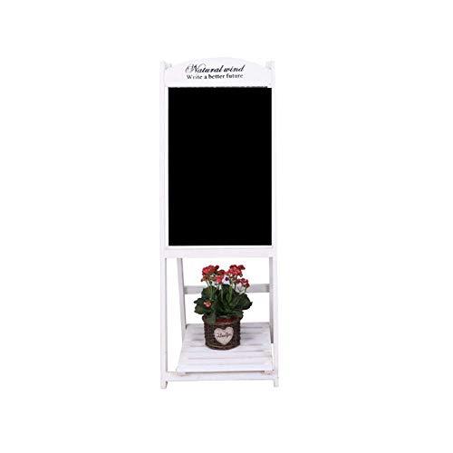 Wghz Blumenständer innen, Kreidetafeln Message Board Retro Massivholz Typ eine Faltbare Halterung Propaganda Blumenständer Restaurant Shop