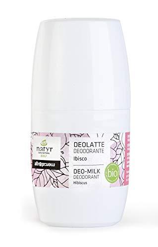 Natyr Bio Deo Roll-On mit Hibiskusblüten für empfindliche Haut 50 ml - sanfte Pflege und natürlich frischer Duft ohne Aluminiumsalze