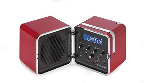Brionvega radio.cubo TS522D+S-R Radio FM/DAB Bluetooth, Rosso