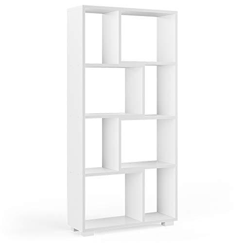Vicco Raumteiler Domus offene Fächer weiß Bücherregal Standregal Aktenregal (8 Fächer)