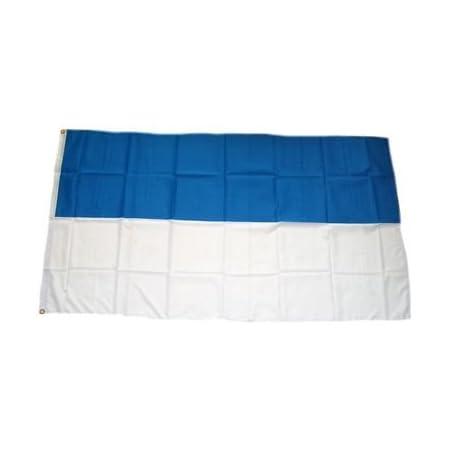Fahne Flagge Schützenfest Blau Weiss mit Seil Digitaldruck 90 x 150 cm