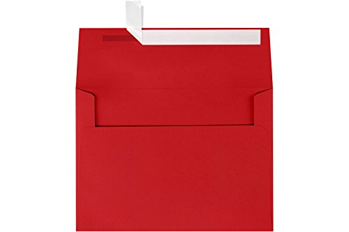 LUXPaper A7 Invitation Envelopes for 5 x 7 Cards in 80 lb. Ruby Red,...