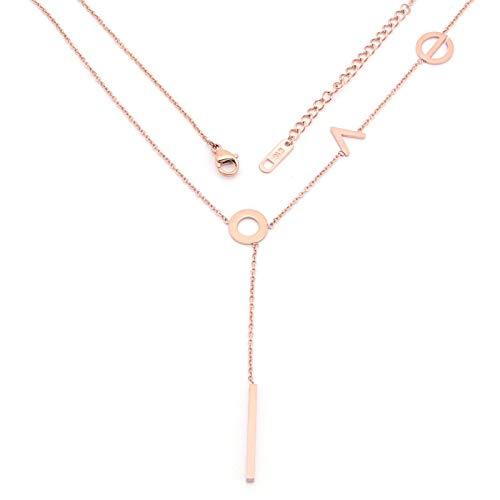 ZYLL Collar con Letras de Amor Net-A-Go, Acero de Titanio, no Cae, Colgante de Tysse de Color, Cadena de clavícula Sexy, un Peinado