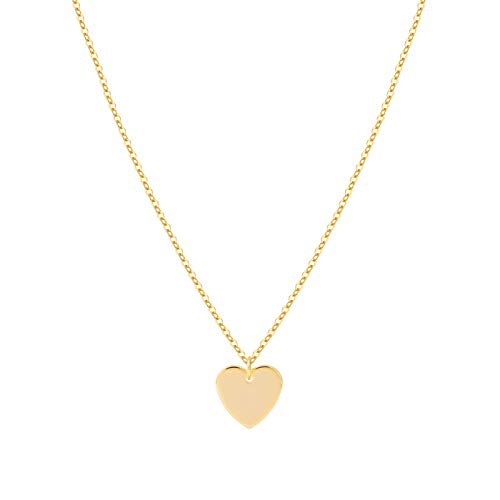 S.J JEWELRY Womens Simple Delicate Handmade 14K Gold Plated/Rose Gold/Silver Plated Simple Delicate Heart and Bar Chokers Necklace NK-Z-Heart