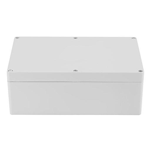 Akozon Junction Box, 230 * 150 * 85mm Wasserdicht IP65 Weiß Projekt Fall DIY Anschlussdose Kunststoff Gehäuse Fall Power Abzweigdose