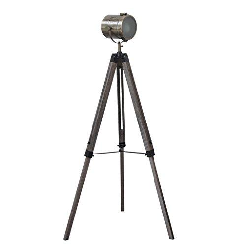 Staande lamp staande lamp tafel statief standaard drie-in-one stad industrieel design (koper, zilver, staande lamp) LED