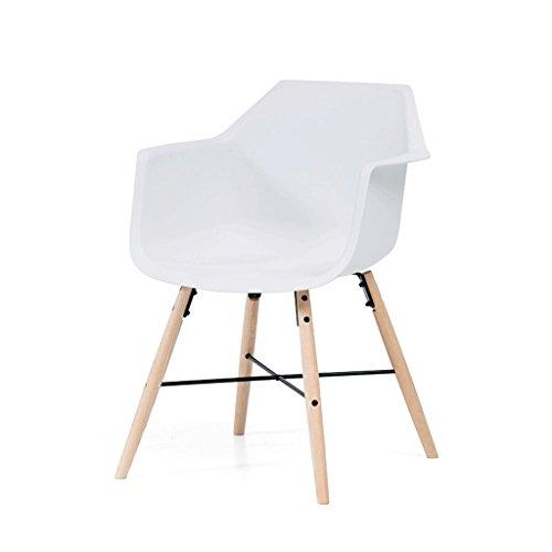 Fauteuils Chaise décorative Blanche en Bois Massif Chaise d'ordinateur Chaise Longue et Chaises