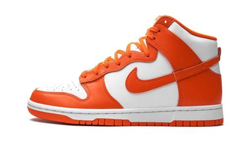 Nike Dunk Hi Retro, Scarpe da Basket Uomo, White/Orange Blaze-White, 45 EU