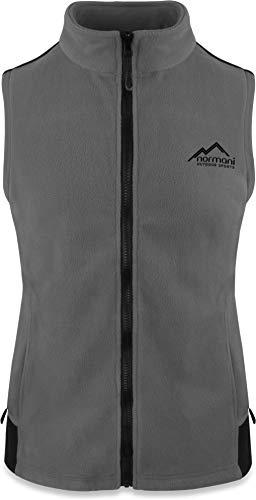normani Fleece Weste für Damen mit Reißverschlusstaschen, Stehkragen, ZIP-T3K System Farbe Grau Größe L