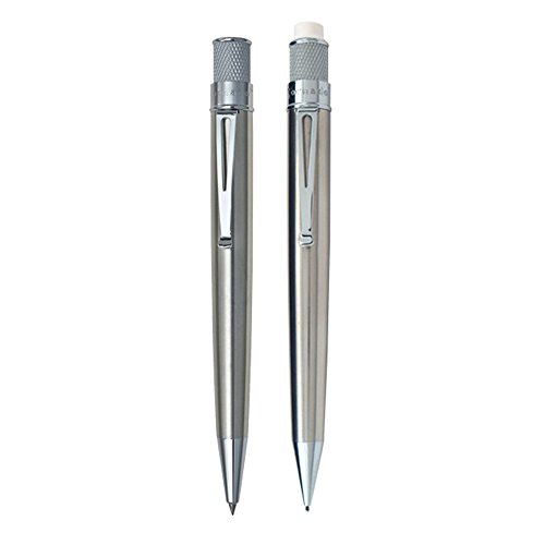 Retro 51 Tornado Rollerball and Mechanical Pencil Set, Stainless (VRS-1315)