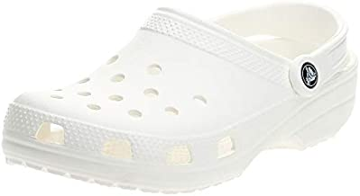Crocs Classic Clog | Comfortable Slip on Casual Water Shoe, White, 7 M US Women / 5 M US Men