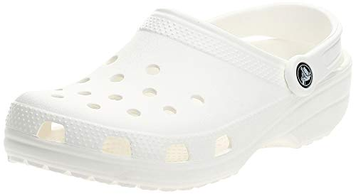 Crocs Classic Clog | Comfortable Slip on Casual Water Shoe, White, 9 M US Women / 7 M US Men