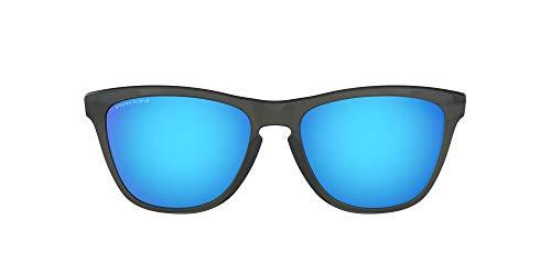 Oakley Men's Frogskins Asian Fit Sunglasses,OS,Gray Smoke/Prizm Sapphire