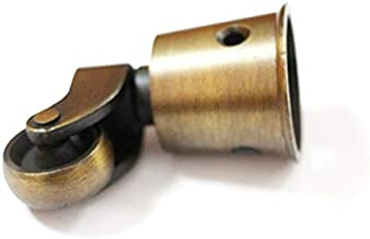 Vogueing Tool Castor wielen Swivel massief messing wiel schroef stijl montage - antieke vintage cup type 1 stks universele...