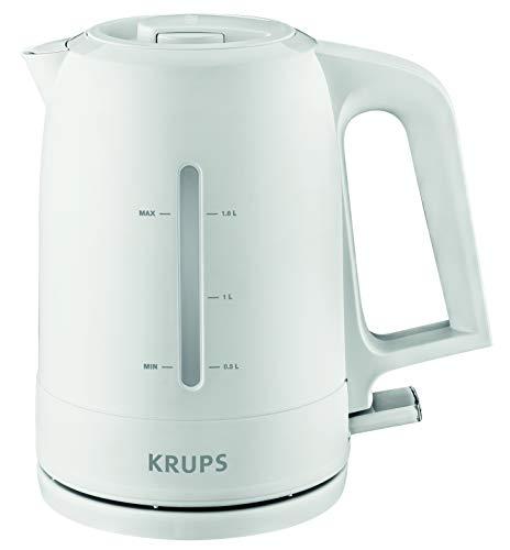 Krups BW2441 Wasserkocher Pro Aroma   1,6 L Fassungsvermögen   2.400 W   Beleuchteter Ein-/ Ausschalter   Weiß