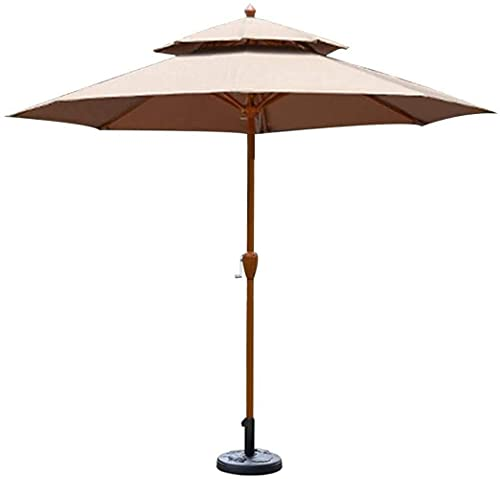 Regenschirm Sonnenschirm, Sonnenschirm Sonnenschirm Garten Sonnenschirme?9ft / 2,7m Gartenschirm mit Kurbelgriff, Sonnenschutz Wasserdichter Schutz für Terrasse, Balkon,...