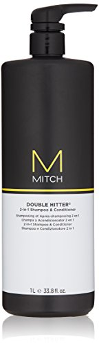 MITCH Double Hitter 2-in-1 Shampoo and Conditioner, 33.8 Fl Oz