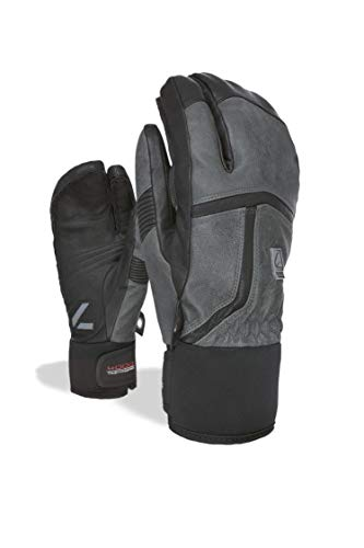 Level Off Piste Leather Trigger Guantes, Hombre, Anthracite, 8