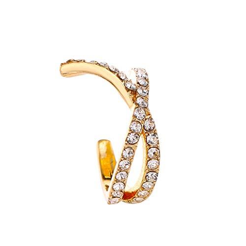 Janly Clearance Sale Pendientes para mujer, con clip de oreja, doble C, cartílago en forma de U, para mujer, sin perforaciones, joyería y relojes para Navidad, San Valentín